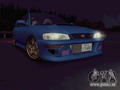 Subaru Impreza WRX GC8 InitialD pour GTA San Andreas laissé vue