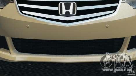 Honda Accord Type S 2008 pour GTA 4 vue de dessus