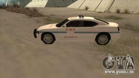 Dodge Charger PNP SAN FIERRO pour GTA San Andreas laissé vue