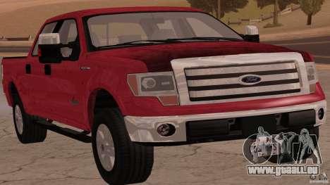 Ford F-150 Platinum Final 2013 für GTA San Andreas zurück linke Ansicht