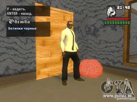 Chemise avec cravate pour GTA San Andreas troisième écran