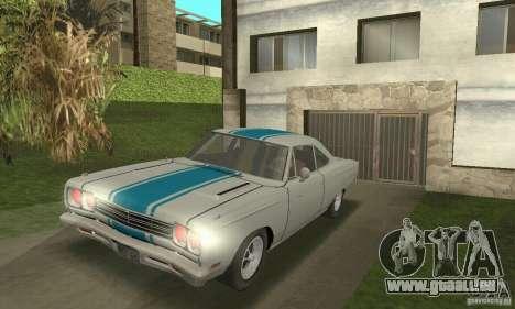 Plymouth Roadrunner 383 für GTA San Andreas Rückansicht