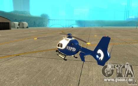 NYPD Eurocopter von SgtMartin_Riggs für GTA San Andreas rechten Ansicht