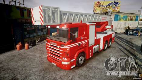 Scania Fire Ladder v1.1 Emerglights red [ELS] pour GTA 4