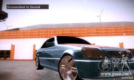 Mercedes-Benz 600SEC für GTA San Andreas obere Ansicht