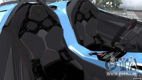 Lamborghini Aventador J 2012 v1.2 pour GTA 4 est une vue de l'intérieur