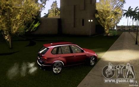 BMW X5M  2011 für GTA San Andreas obere Ansicht
