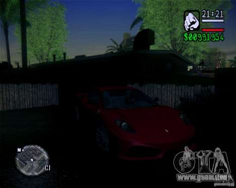 Nouveaux graphismes dans le jeu 2011 pour GTA San Andreas quatrième écran