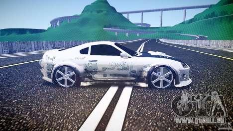Toyota Supra ProStreet Style pour GTA 4 est une vue de l'intérieur