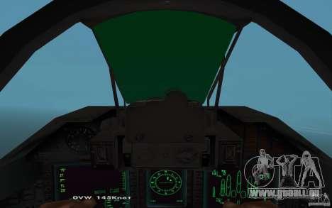 Su-32-Steinadler für GTA San Andreas zurück linke Ansicht