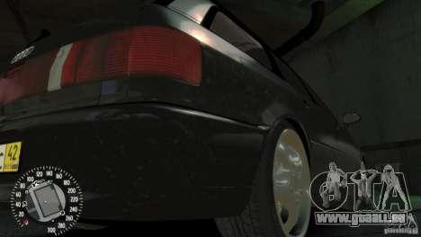 Audi RS2 Avant pour GTA 4 est une vue de l'intérieur