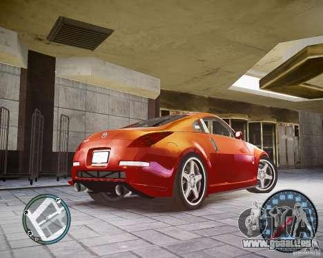 Nissan 350Z Z33 pour GTA 4 Vue arrière de la gauche
