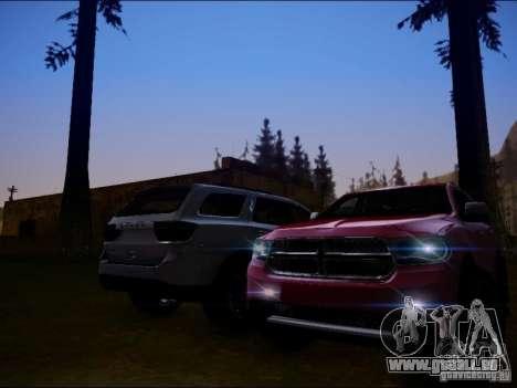 Dodge Durango 2012 pour GTA San Andreas sur la vue arrière gauche
