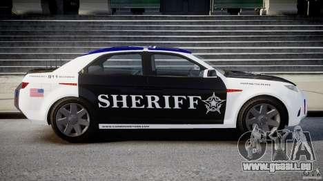 Carbon Motors E7 Concept Interceptor Sherif ELS für GTA 4 linke Ansicht