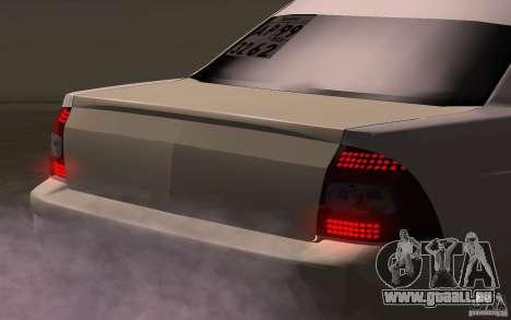 VAZ Lada Priora pour GTA San Andreas vue arrière