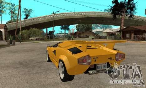 Lamborghini Countach für GTA San Andreas zurück linke Ansicht