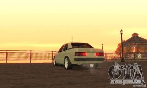 Mercedes-Benz 190E pour GTA San Andreas laissé vue