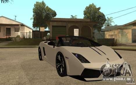 Lamborghini Gallardo LP570-4 pour GTA San Andreas vue arrière