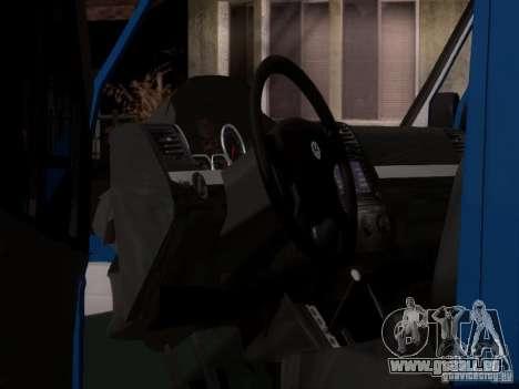 Volkswagen Crafter XL pour GTA San Andreas vue de dessus