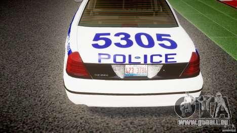 Ford Crown Victoria NYPD [ELS] für GTA 4 Unteransicht