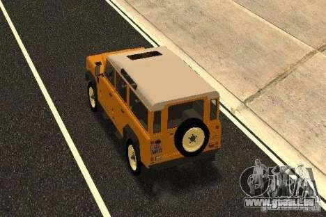 Land Rover Defender 110 pour GTA San Andreas sur la vue arrière gauche