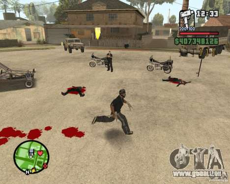 Sangue na tela v2 pour GTA San Andreas deuxième écran