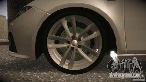 Seat Leon Cupra pour GTA San Andreas vue de dessus