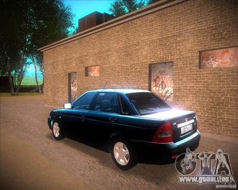 Lada Priora Suite pour GTA San Andreas laissé vue