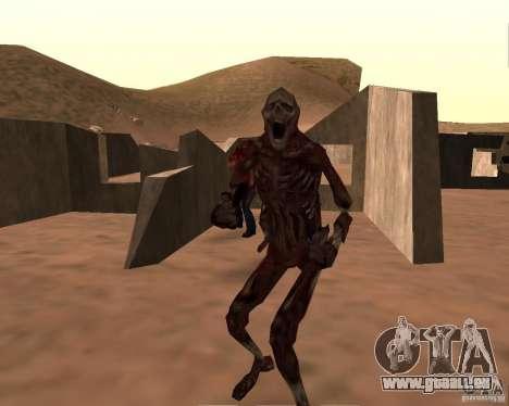 Zombie Half life 2 pour GTA San Andreas quatrième écran