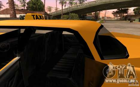 Glendale Cabbie pour GTA San Andreas vue de droite