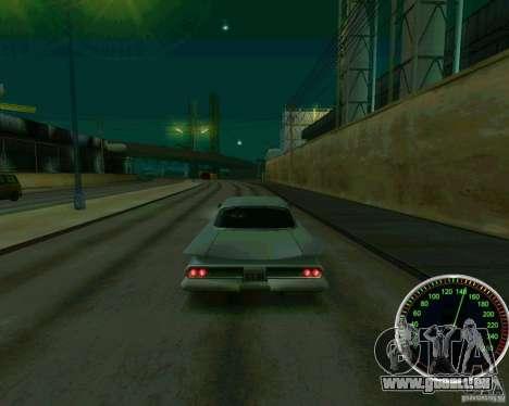 Compteur de vitesse pour GTA San Andreas quatrième écran