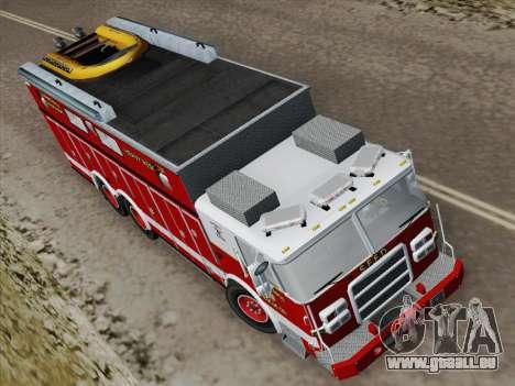 Pierce Walk-in SFFD Heavy Rescue für GTA San Andreas Rückansicht