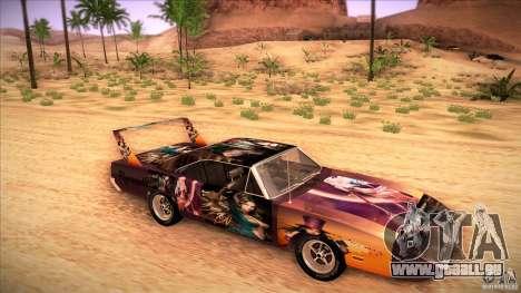 Plymouth Roadrunner Superbird Custom für GTA San Andreas Rückansicht