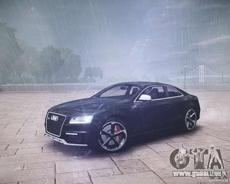 Audi RS5 2010 pour GTA 4 Vue arrière de la gauche