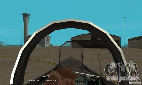 Su-37 Terminator pour GTA San Andreas vue arrière