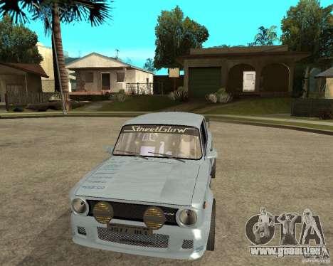 Tuning de voiture VAZ 2101 pour GTA San Andreas vue arrière