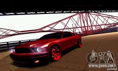 Shelby GT500 KR pour GTA San Andreas vue arrière