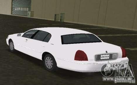Lincoln Town Car pour une vue GTA Vice City de la gauche