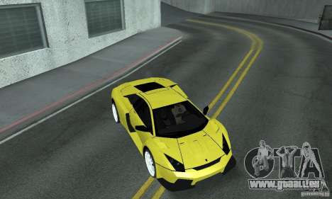 Lamborghini Murcielago Tuned pour GTA San Andreas vue de dessous