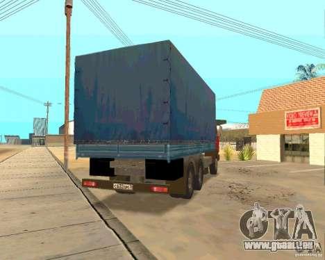 KAMAZ 54115 pour GTA San Andreas vue intérieure