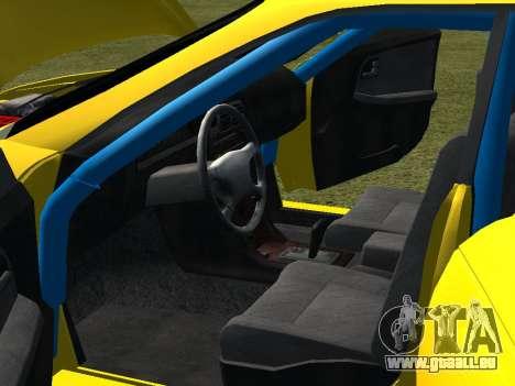 Toyota Mark 2 pour GTA San Andreas vue de dessous