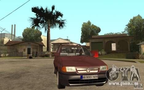 Opel Astra SW 1.6 1994 pour GTA San Andreas vue arrière