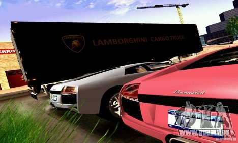 Lamborghini Cargo Truck für GTA San Andreas Rückansicht