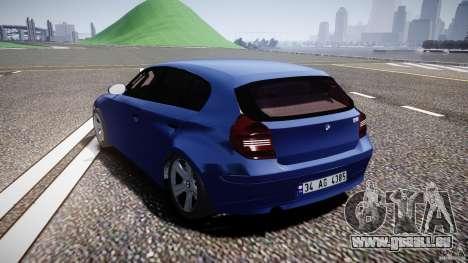 BMW 118i für GTA 4 hinten links Ansicht