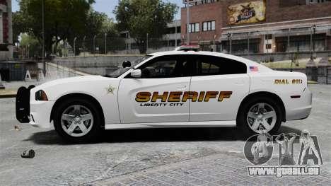 Dodge Charger 2013 Police Code 3 RX2700 v1.1 ELS für GTA 4 linke Ansicht