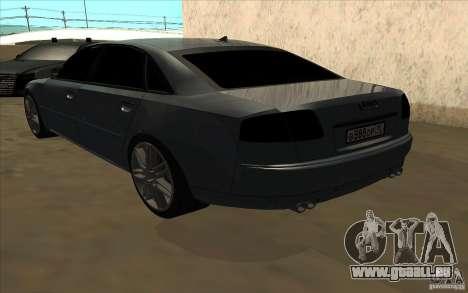 Audi A8l W12 6.0 für GTA San Andreas Rückansicht