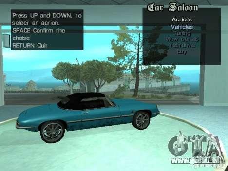 Automobil-Salon für GTA San Andreas neunten Screenshot