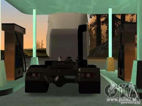 MAZ 5440 für GTA San Andreas zurück linke Ansicht
