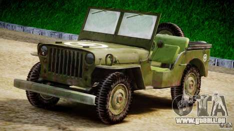 Jeep Willys [Final] für GTA 4 Innenansicht