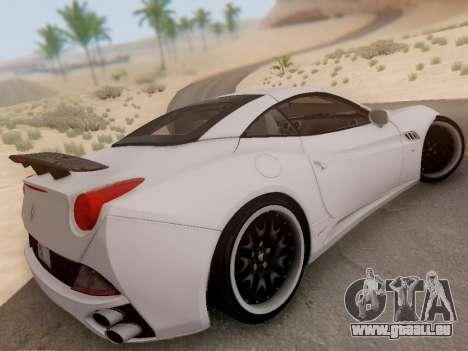 Ferrari California Hamann 2011 für GTA San Andreas Innenansicht